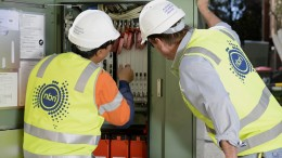 NBN Co Cooks Hill FTTN Installation Cnr of Darby and Parry St, Cooks Hill Newcastle. 27th July 2015. 270715